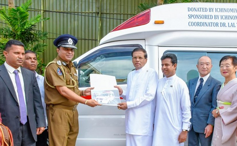 Japan- Sri Lanka Friendship Foundation donates an ambulance. Photo Credit: Sri Lanka government.