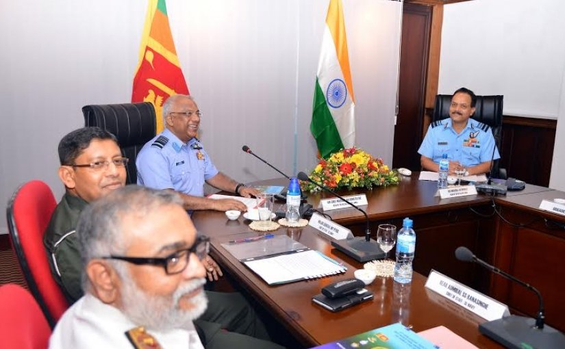 Second Strategic Discussions between the Armed Forces of India and Sri Lanka. Photo Credit: Sri Lanka government.