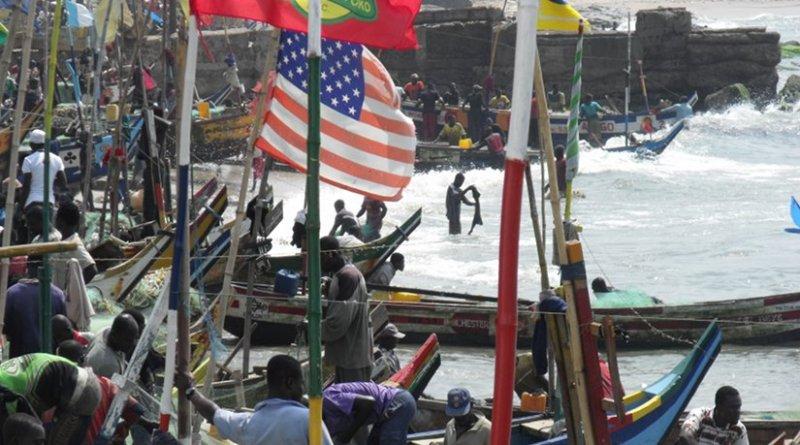 Fishing fleet in Ghana