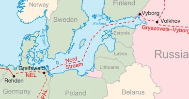Nord Stream project. Graphic by Samuel Bailey, Wikipedia Commons.