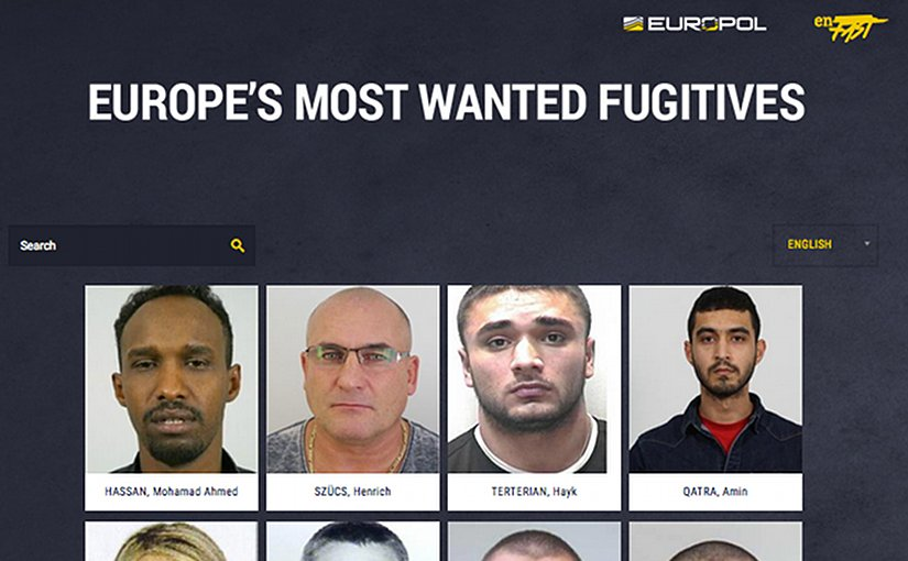 Europol's Most Wanted Website: http://www.eumostwanted.eu/)