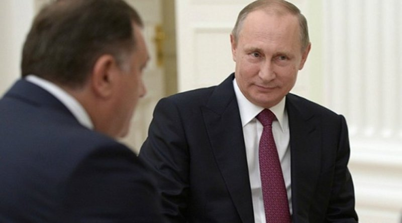 President of Republika Srpska, Milorad Dodik, with Russian President Vladimir Putin. Photo: kremlin.ru