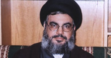 Hezbollah Secretary General Seyyed Hassan Nasrallah. Photo Rainwiki, Wikipedia Commons.