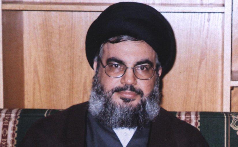 Hezbollah Secretary General Seyyed Hassan Nasrallah. Photo Rainwiki, Wikipedia Commons.