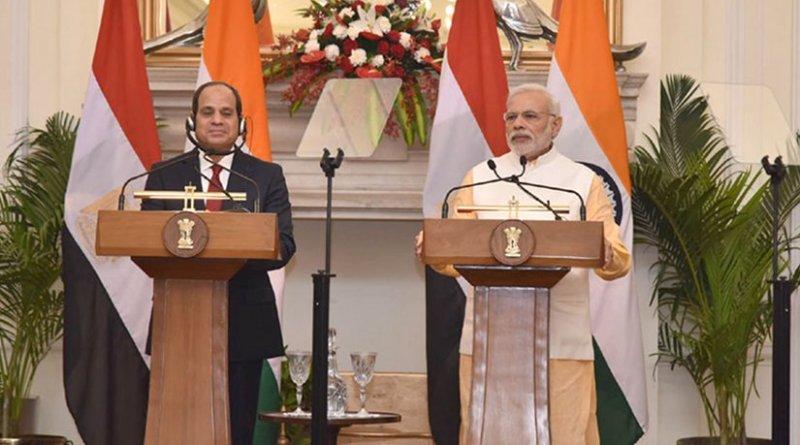 Egyptian President Abdel Fattah Al-Sisi and India's Prime Minister Narendra Modi. Photo Credit: India PM office.