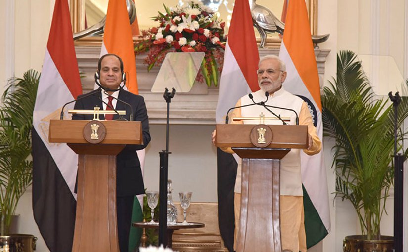 Egyptian President Abdel Fattah Al-Sisi and India's Prime Minister Narendra Modi. Photo Credit: India PM office.