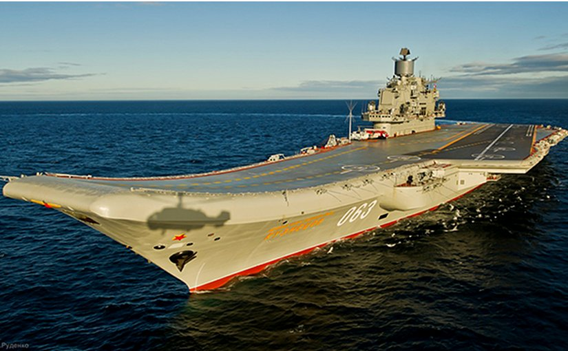 Russia's Admiral Kuznetsov aircraft carrier. Photo credit: Russia's Ministry of Defence, Wikipedia Commons.