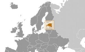Location of Estonia. Source: CIA World Factbook