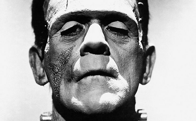 """Promotional photo of Boris Karloff from """"The Bride of Frankenstein"""" as Frankenstein's monster. Author: Universal Studios. Wikipedia Commons."""