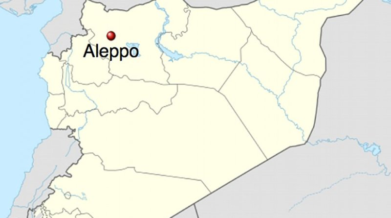 Location of Aleppo in Syria. Source: Wikipedia Commons.