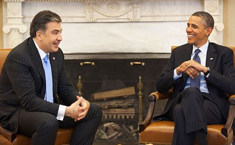 Misha Saakashvili meeting President Obama in 2012