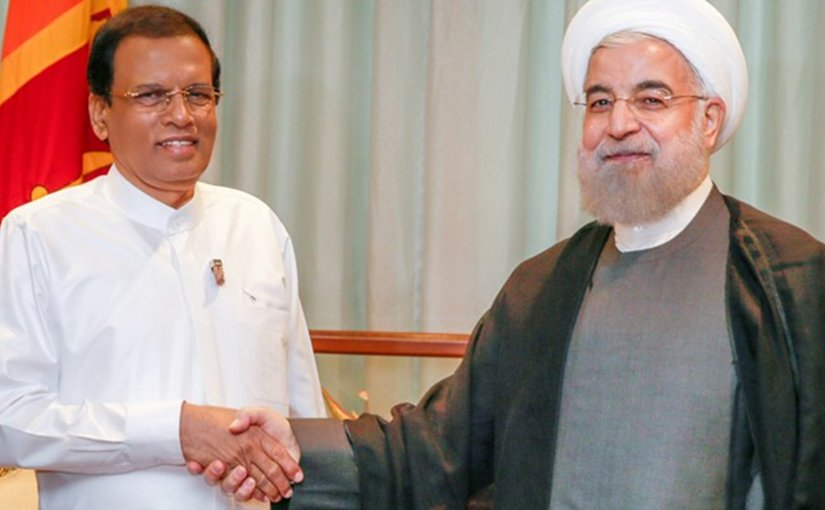 Sri Lanka's Maithripala Sirisena and Iran's Hassan Rouhani. Photo Credit: Sri Lanka government.