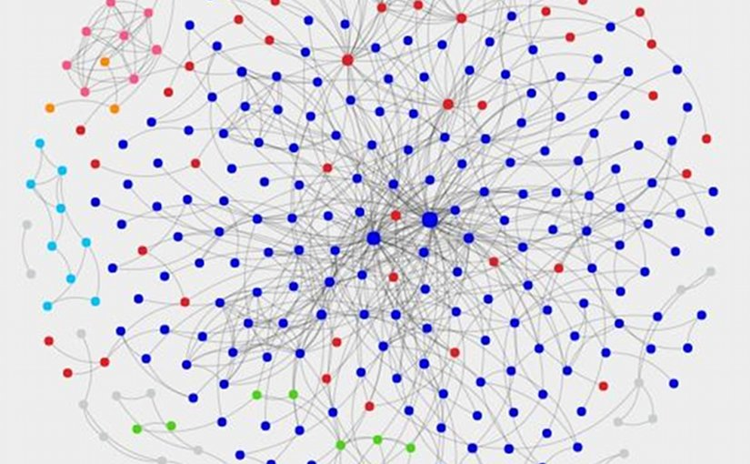 In the social network underlying the Ossianic epic, the 325 nodes represent characters appearing in the narratives and the 748 links represent interactions between them. Credit Coventry University