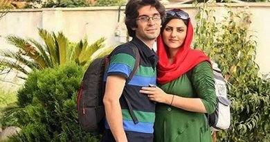 Golrokh Ebrahimi Iraee and her husband Arash Sadeghi, together they are serving 25 years in prison. Photo via Radio Zamaneh.