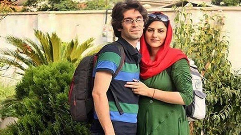 Golrokh Ebrahimi Iraee and her husband Arash Sadeghi, together they are serving 25 years in prison. Photo via Radio Zamaneh.