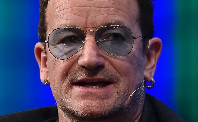 "Paul David Hewson, ""Bono"". Photo Credit: 2014 Web Summit, Wikipedia Commons."