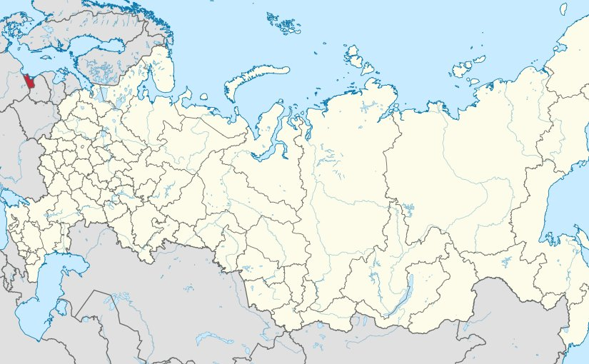 Location of Kaliningrad Oblast In Russia. Source: Wikipedia Commons.