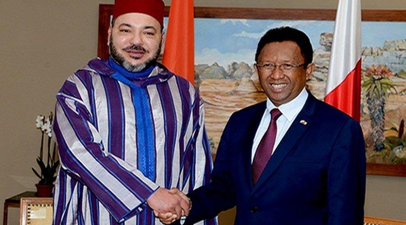 Morocco's King Mohammed VI with President of Republic of Madagascar, Hery Rajaonarimampianina