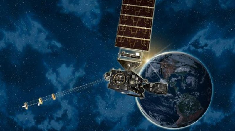 A new satellite mission carrying CU-Boulder space weather instruments is expected to help mitigate damage to satellites and communications systems caused by powerful solar storms. Credit NASA