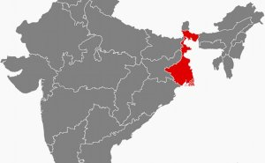 Location of West Bengal in India. Source: Wikipedia Commons.