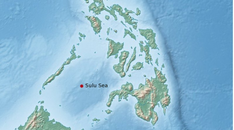 Location of the Sulu Sea.