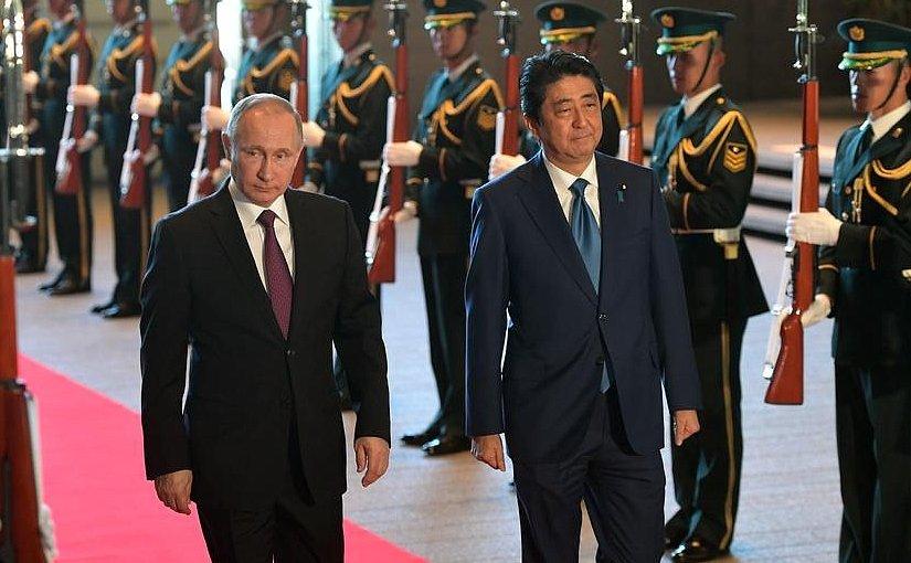Russia's President Vladimir Putin with Japanese Prime Minister Shinzo Abe. Photo credit: Kremlin.ru