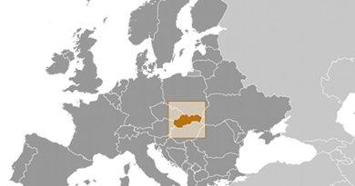 Location of Slovakia. Source: CIA World Factbook.