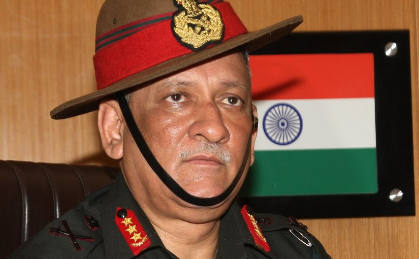 Indian Army General Bipin Rawat. PIB Photo releases, Wikipedia Commons.