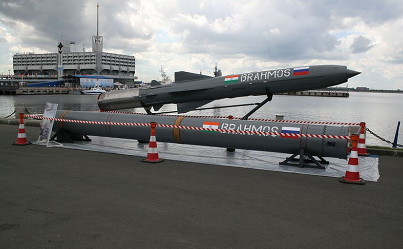 A BrahMos cruise missile. Photo by One half 3544, Wikipedia Commons.