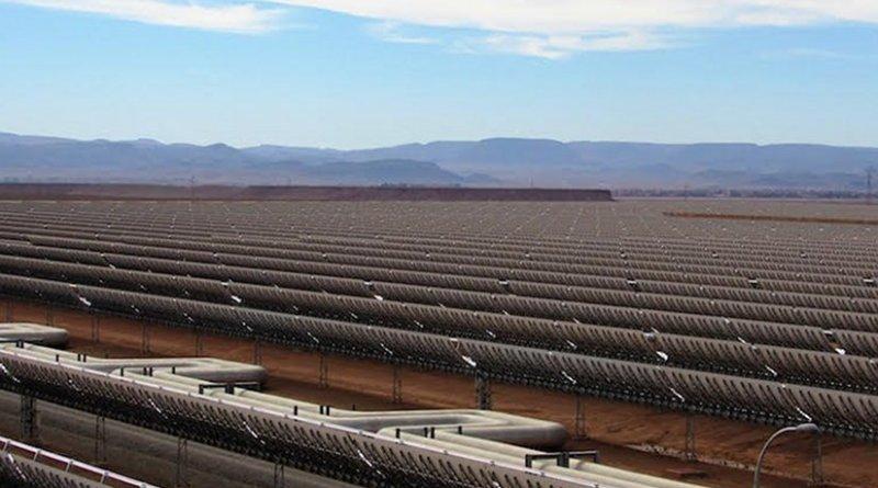 Morocco's Noor 1: Currently the $9 billion Noor facilities generate 160 megawatts (MW). Credit: Fabiola Ortiz