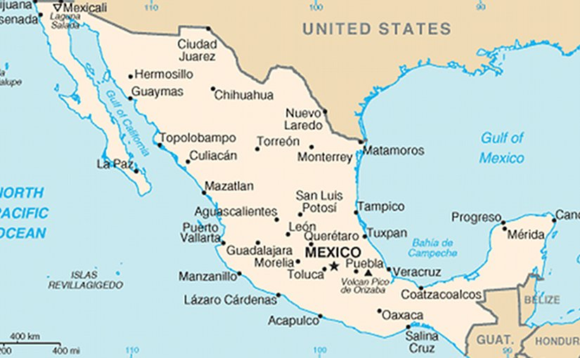 Mexico energy profile among largest source of us oil imports map of mexico source source cia world factbook gumiabroncs Image collections