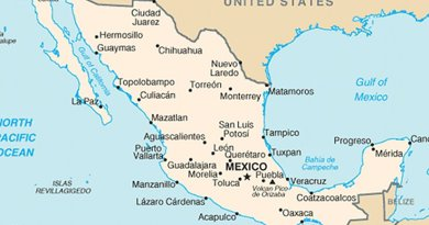 Map of Mexico. Source: Source: CIA World Factbook