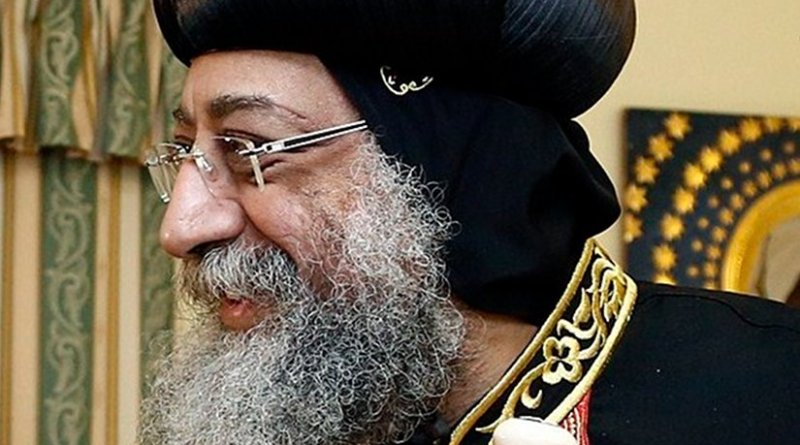 Coptic Pope Tawadros II. Photo by Dragan TATIC, Wikipedia Commons.