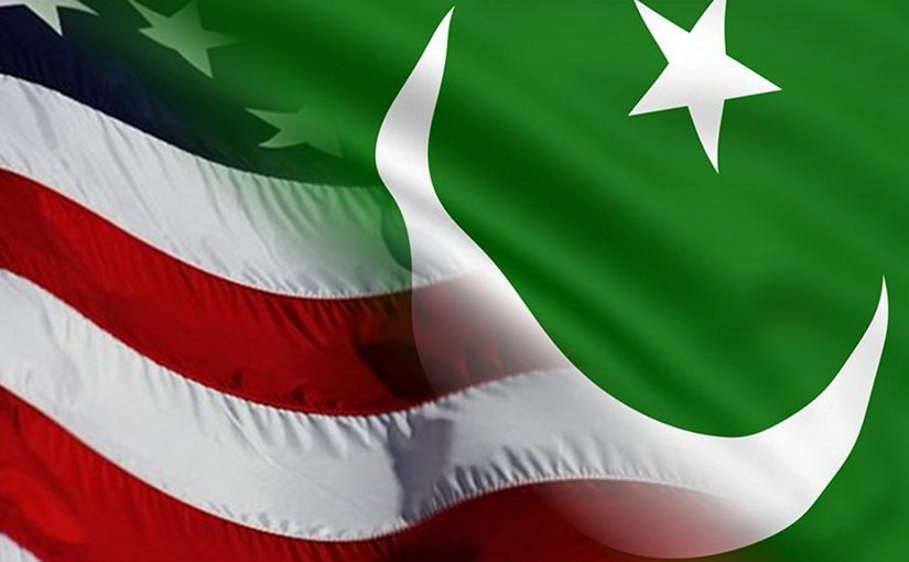 Flags of United States and Pakistan