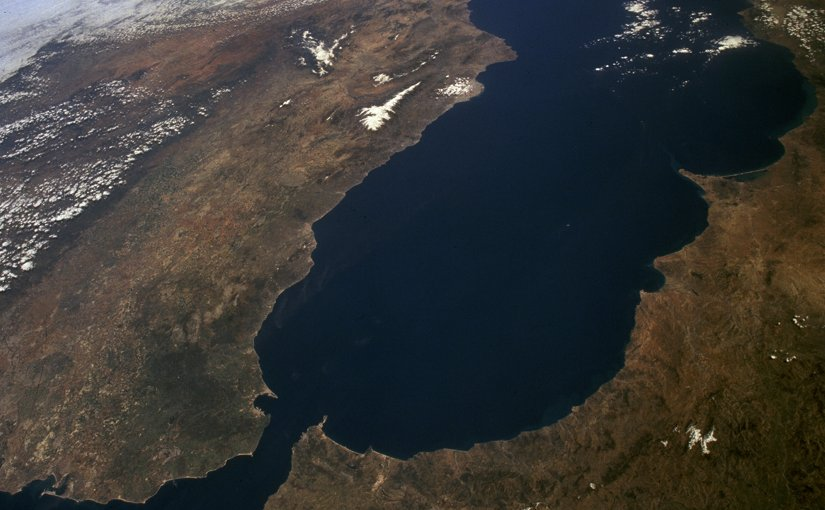 Satellite image of the Gibraltar Arc (NASA)