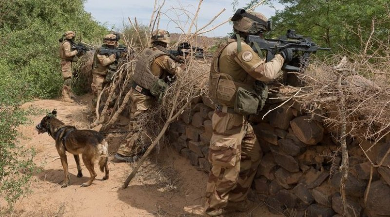 French soldiers stand guard in Mali as part of Operation Barkhane. French Ministry of Defense photo