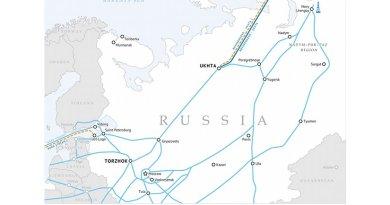 Bovanenkovo – Ukhta and Bovanenkovo – Ukhta 2 gas pipelines. Source: Gazprom