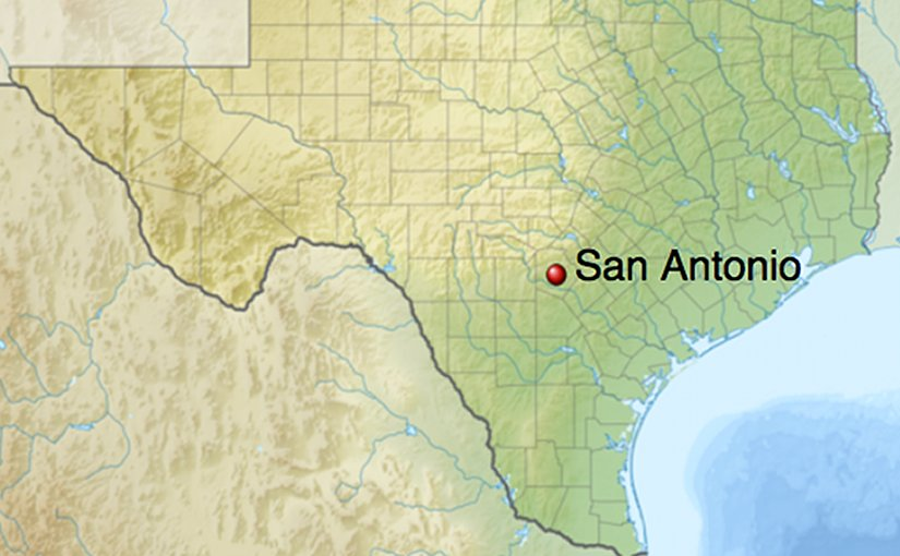 Location of San Antonio, Texas. Credit: Wikipedia Commons.