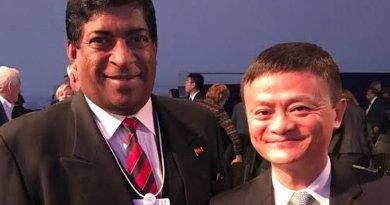 Sri Lanka's Finance Minister Ravi and Alibaba's Jack Ma. Photo Credit: Sri Lanka government.