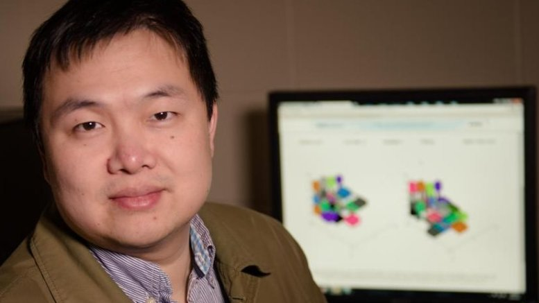 Shiyan Hu of Michigan Tech studies cybersecurity and how it impacts cyber-physical systems like smart grids and self-driving cars. Credit Michigan Tech, Sarah Bird