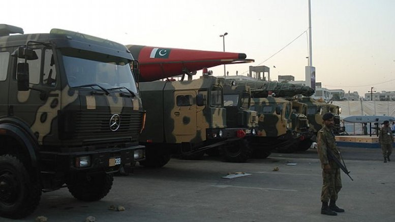 Truck-mounted Missiles on display at the IDEAS 2008 defence exhibition in Karachi, Pakistan. Photo by SyedNaqvi90, Wikipedia Commons.