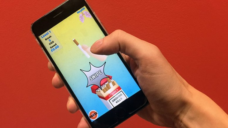 Academics from Kingston University London and Queen Mary University of London have created a smartphone gaming app to help smokers quit.
