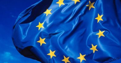 Flag of the European Union. Photo by rockcohen, Wikipedia Commons.