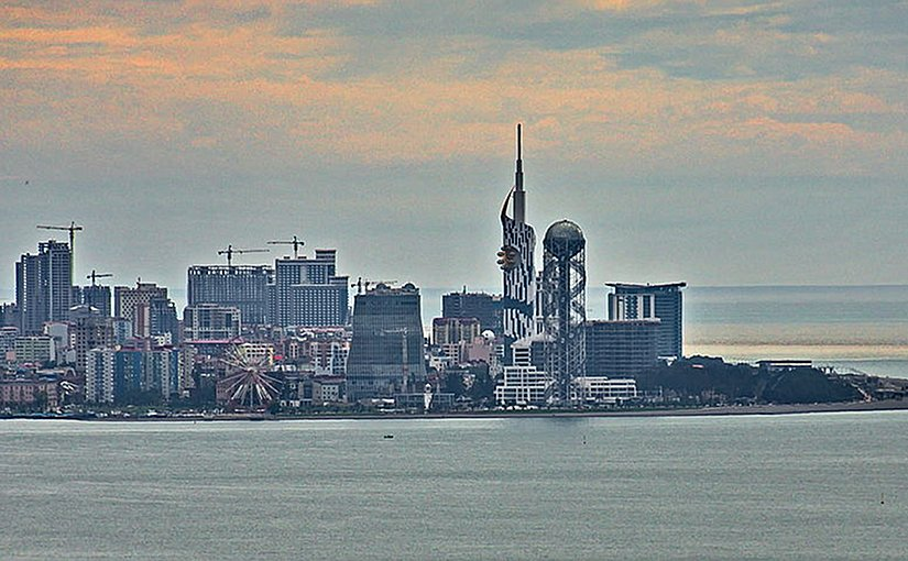 Skyline of Batumi, Georgia. Photo by Uwe Brodrecht, Wikipedia Commons.