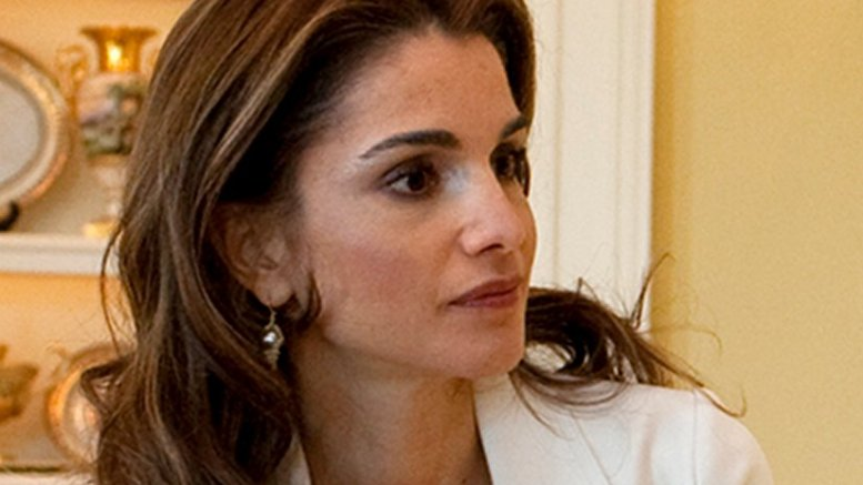 Jordan's Queen Rania. Photo by Samantha Appleton, White House photographer, Wikipedia Commons.