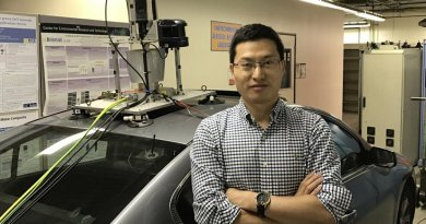 Xuewei Qi and a team of UCR researchers are using vehicle connectivity and evolutionary algorithms to improve the efficiency of Plug-In Hybrid Electric Vehicles. Credit UC Riverside