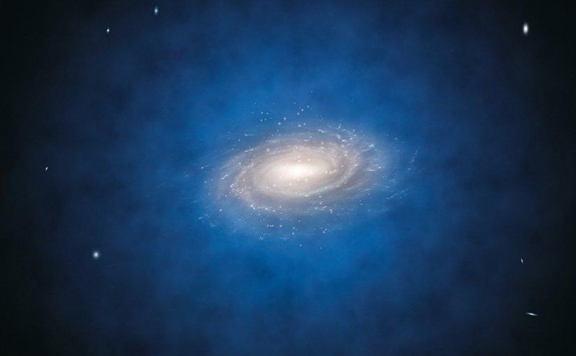 Artist impression of early Milky way type galaxy. Credit: ESO/L.Calçada