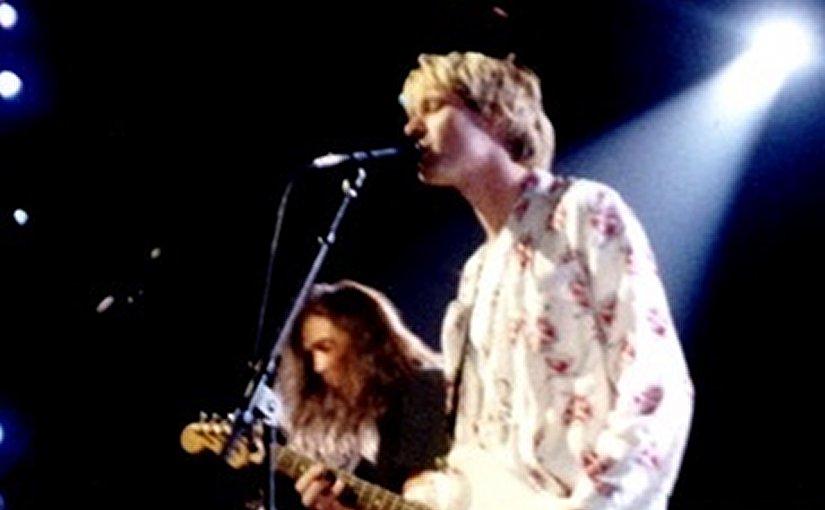 Kurt Cobain and Nirvana in 1992. Photo by P.B. Rage, Wikipedia Commons.