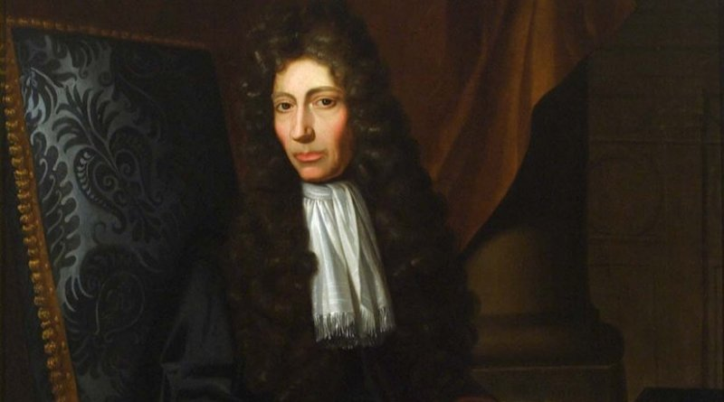 Robert Boyle. Painting by Johann Kerseboom - Chemical Heritage Foundation, Wikipedia Commons.