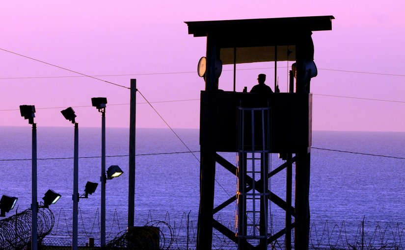 This is a guard tower at the US military prison at Guantanamo Bay, Cuba. Credit US Navy